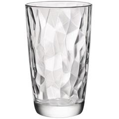 Copo Long Drink em Vidro Diamond 470ml Transparente - Bormioli Rocco
