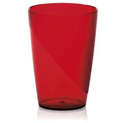 Copo Milano Cristal Pequeno 250 Ml Vermelho - Martiplast