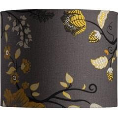 Cúpula Cilíndrica Floral Amarela 22cm - LS Ilumina