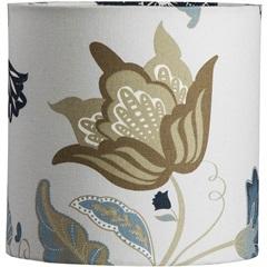 Cúpula Cilíndrica Floral Azul 20cm - LS Ilumina