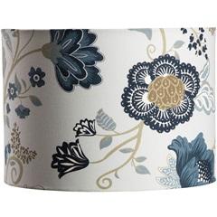 Cúpula Cilíndrica Floral Azul 25cm - LS Ilumina