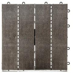 Deck em Polipropileno Sustentável Frisado 30x30cm Ipê - Massol