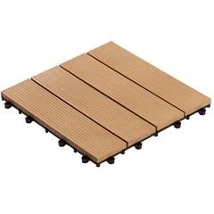 Deck Plástico Sustentável 30 X 30 X 2 Cm Frisado Pd Cumaru  - Massol