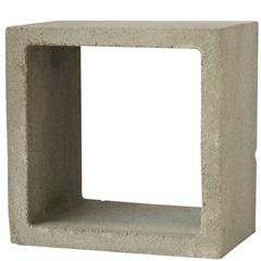 Duto Liso em Concreto 30x25cm Cinza - Redentor