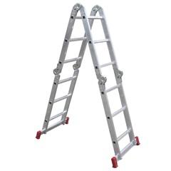 Escada Articulada em Alumínio com 12 Degraus
