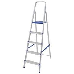 Escada de Alumínio 5 Degraus Uso Doméstico