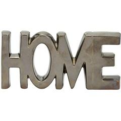 Escrita Decorativa em Dolomita Home Bronze - Importado