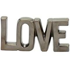 Escrita Decorativa em Dolomita Love Bronze - Importado