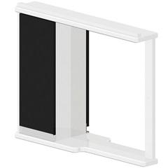 Espelheira em Mdf Azzira 65x81cm Branco E Preto