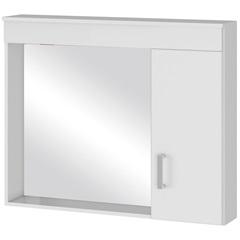 Espelheira em Mdf Madri 80x63cm Branca - MGM Móveis