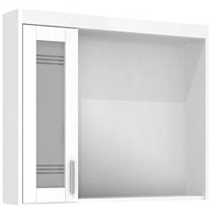 Espelheira Imola 80 Cm com Luminária Branco - Darabas Agardi