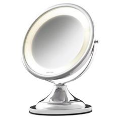 Espelho de Aumento de Mesa com Iluminação Cromado 110v - Crysbell
