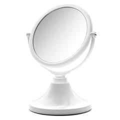Espelho de Aumento Dupla Face Pequeno Branco  - Crysbell