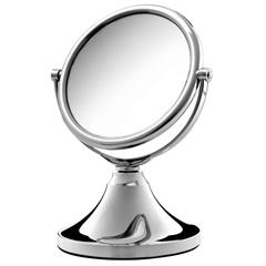 Espelho de Aumento Dupla Face Pequeno Cromado  - Crysbell