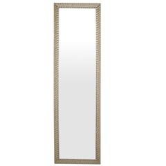 Espelho de Parede Retangular Safira 160 156x46cm Ectx Branco