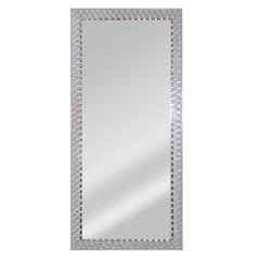 Espelho de Parede Retangular Safira 90 94x44cm Branco - Espelhos Leão