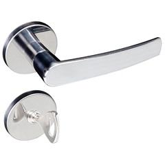 Fechadura para Banheiro com Roseta Concept Cromado - Pado