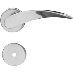 Fechadura para Banheiro com Roseta Onda Cromada