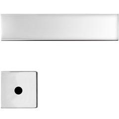 Fechadura para Banheiro com Roseta Redonda Design Massima Cromo Acetinado