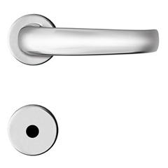 Fechadura para Banheiro com Roseta Redonda Standard Cromada
