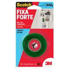 Fita Dupla Face Fixa Forte 19mm com 2m Transparente - Scotch
