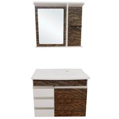 Gabinete com Espelheira E Lavatório Turim Arbóreo 64,5x50cm - Irmãos Corso