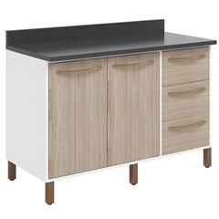 Gabinete em Mdp 90x120cm Branco E Teka - Albatroz