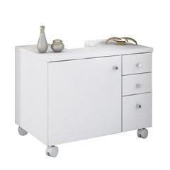 Gabinete em Mdp com Abertura para Coluna Mimo 56x75cm Branco Textura - Albatroz