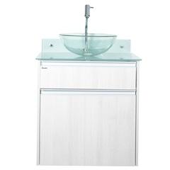 Gabinete para Banheiro com Cuba Parati 60x75cm Cinza - Bonatto