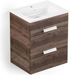 Gabinete para Banheiro em Mdf com Lavatório Debba 45x80cm Branco E Castaine - Roca