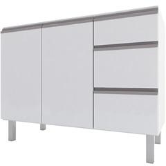 Gabinete para Cozinha em Aço Gaia 115,5cm Branco