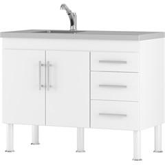 Gabinete para Cozinha em Mdp Flex 114x80cm Branco - MGM Móveis