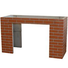 Gabinete para Pia com Tijolinho 87x150cm Vermelho - Redentor