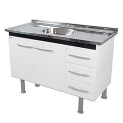 Gabinete para Pia de Cozinha 95,4x80cm Sonic Preto