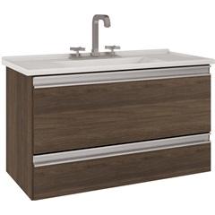 Gabinete Suspenso para Banheiro com Tampo Treviso 80,4x47,5cm Castanho - MGM Móveis
