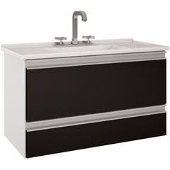 Gabinete Suspenso para Banheiro Treviso 80,4x47,5cm Branco - MGM Móveis