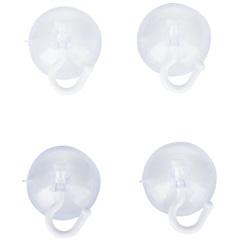 Gancho em Plástico com Ventosa Fixa Fácil com 4 Peças Transparente - Primafer