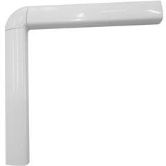 Guarnição em Alumínio para Porta Balcão 4 Folhas Una 210x200cm Branca - Casanova
