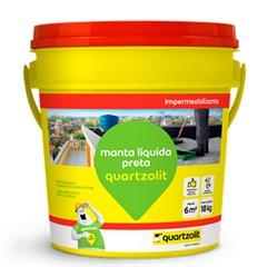 Impermeabilizante Manta Líquida Preta 18 Litros - Quartzolit