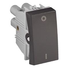 Interruptor Bipolar Simples 10a 250v Grafite Fosco S30 - Simon