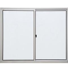 Janela 2 Folhas de Alumínio Branca Linha Pop 100x120cm - Ebel
