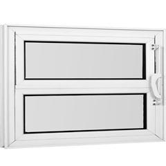 Janela Basculante com Vidro Mini Boreal Una 40x100cm Branco - Casanova