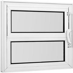 Janela Basculante com Vidro Mini Boreal Una 40x80cm Branco - Casanova