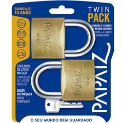 Jogo de Cadeado em Latão Twin Pack 45mm com 2 Peças