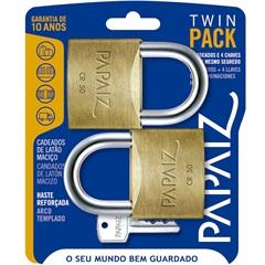 Jogo de Cadeado em Latão Twin Pack 50mm com 2 Peças