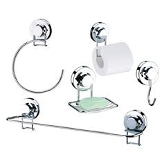 Kit de Acessórios para Banheiro com Ventosa 5 Peças
