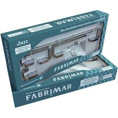 Kit de Acessórios para Banheiro Jazz com 5 Peças Cromado - Fabrimar