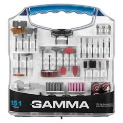 Kit de Acessórios para Micro Retífica com 151 Peças - Gamma