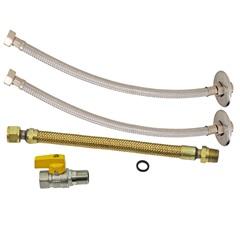 Kit de Instalação para Aquecedor a Gás com 4 Peças 1/2x40cm