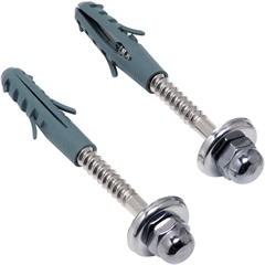 Kit para Fixação com Parafuso E Bucha 10mm com 2 Peças Cromado - Esteves